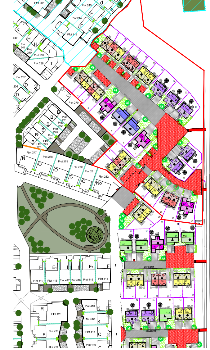 Plans for homes at Cove