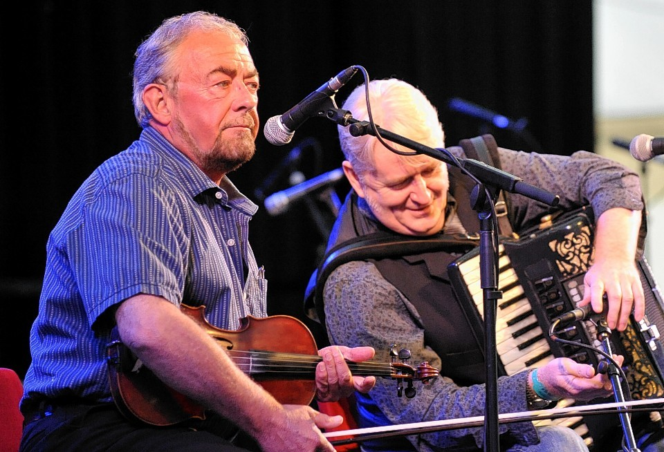Aly Bain and Phil Cunningham perform at Speyfest.