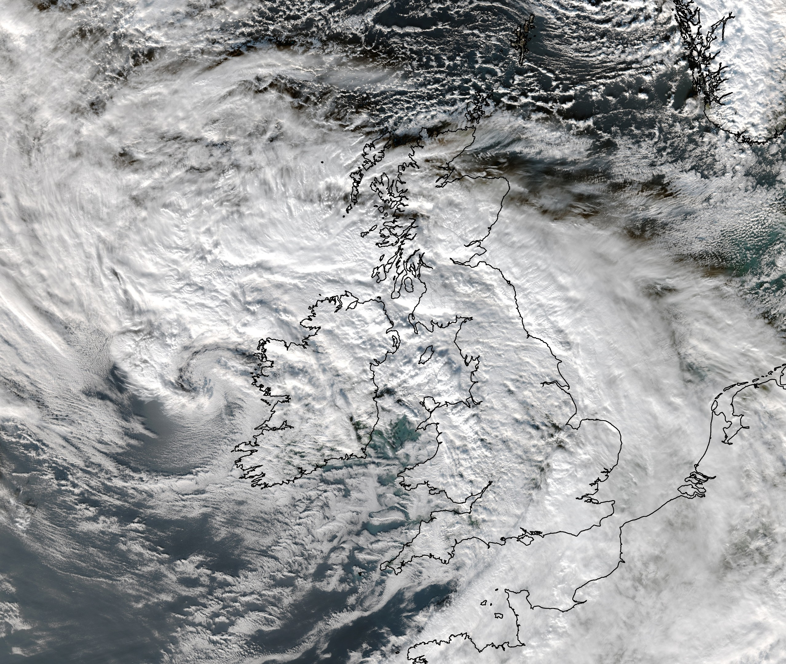 Storm Barney covering the UK