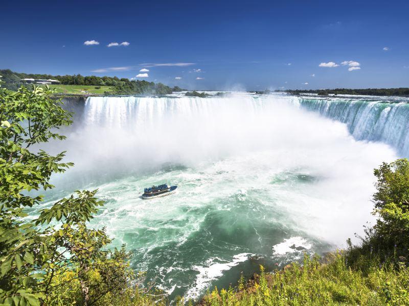 The majestic Niagara Falls