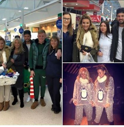 The Towie cast in the Inverness shop before showing off their purchases at Ackergill Tower