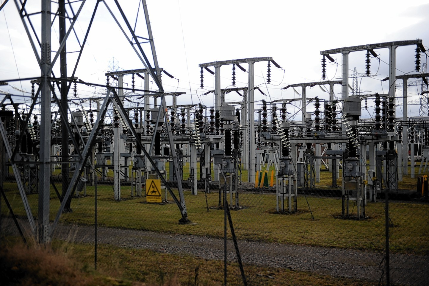 The electricity sub-station at Wester Balblair.