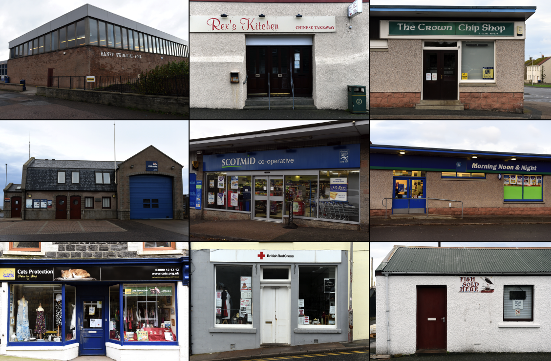 Several shops were hit in Banff and Macduff over the weekend