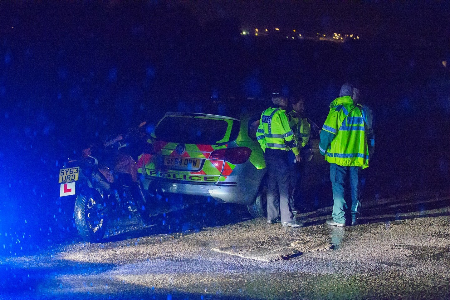 The scene of the crash on the A941