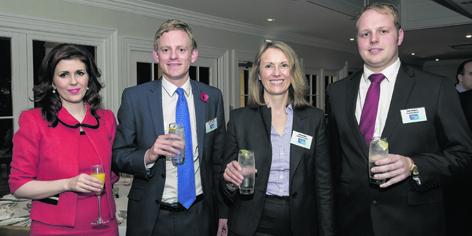 Guest speaker Sarah Malone with Stuart Common,  Belinda Miller and Chris Hodgens