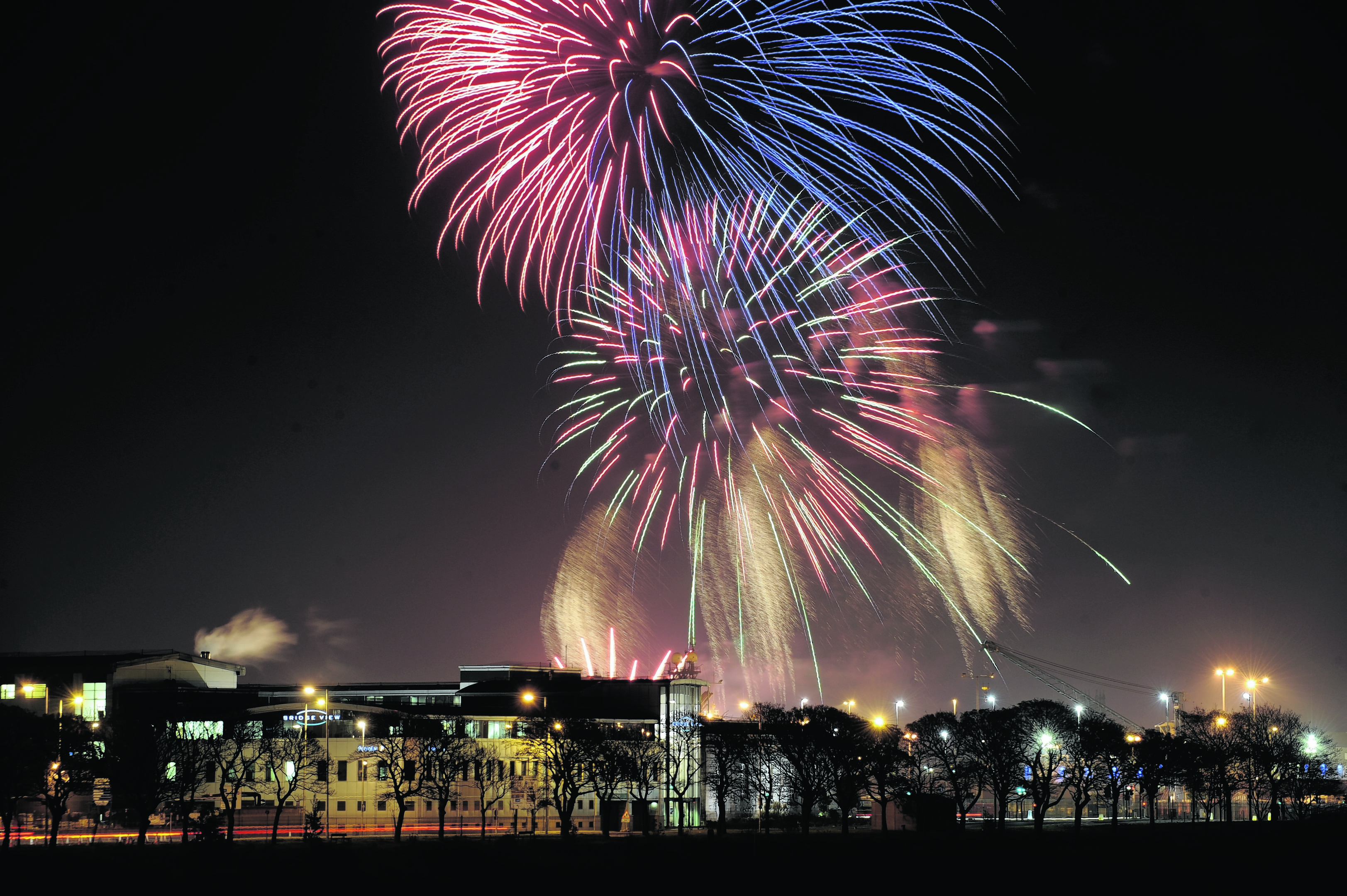 Last year's fireworks display at Aberdeen Beach.  Photo: Kenny Elrick
