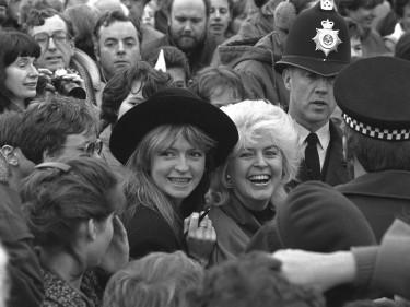 Gloria Hunniford and daughter Caron Keating in 1987