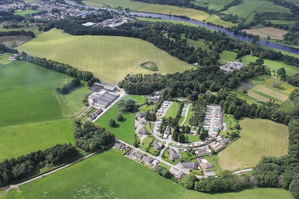 The five acre plot is nestled within a Victorian walled garden and is walking distance from Aberlour.