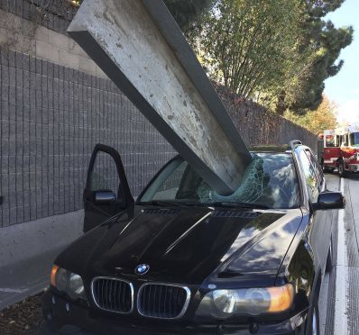 Don Lee's BMW impaled