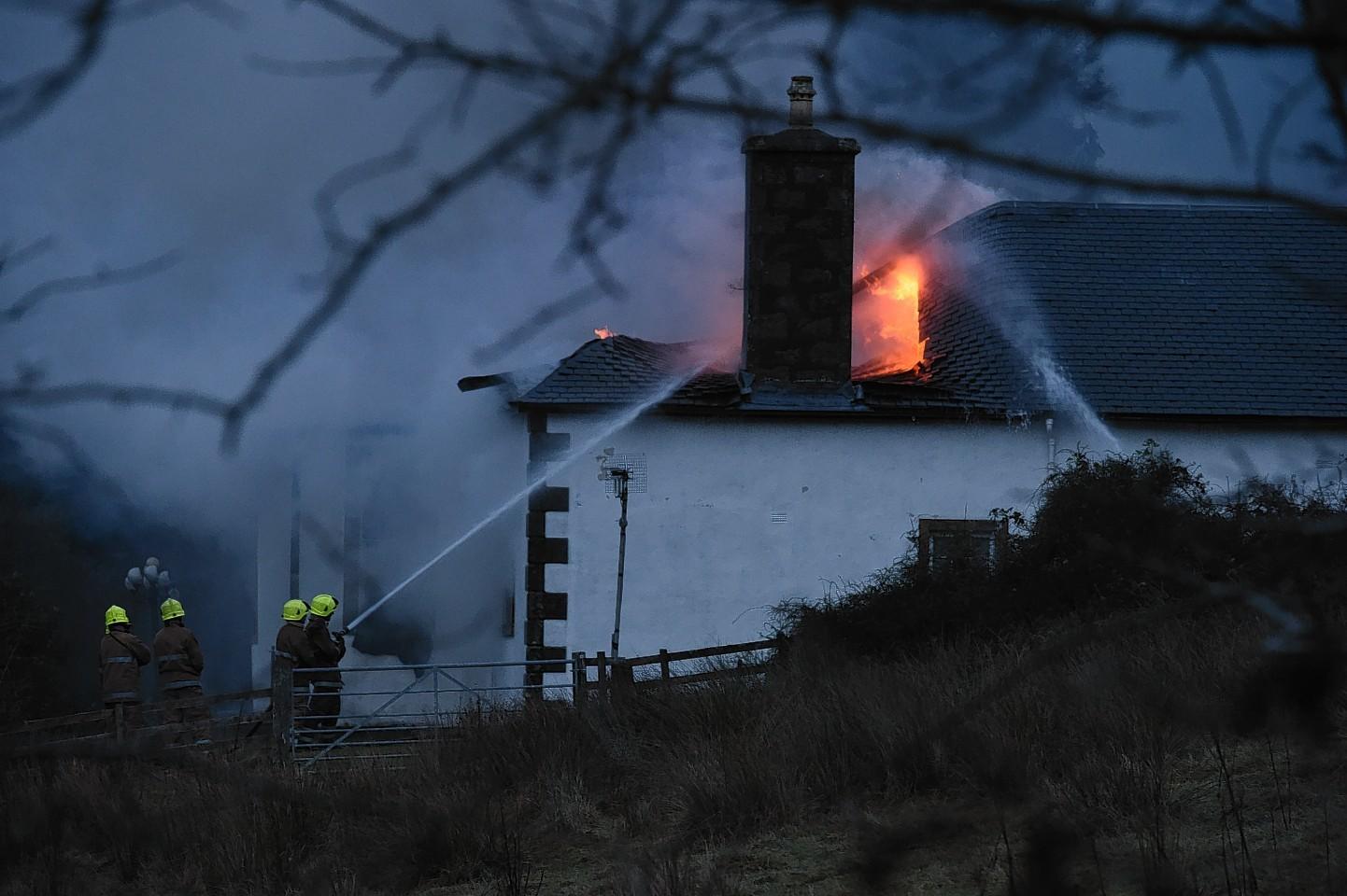 Boleskine House up in flames