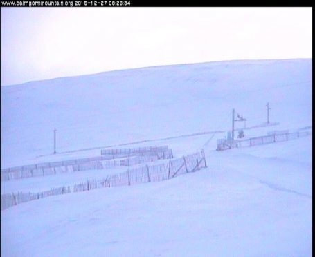 Participants will be taken up Cairngorm Mountain to stand in the cold for 10 minutes. Picture courtesy of Cairngorm Mountain Facebook page