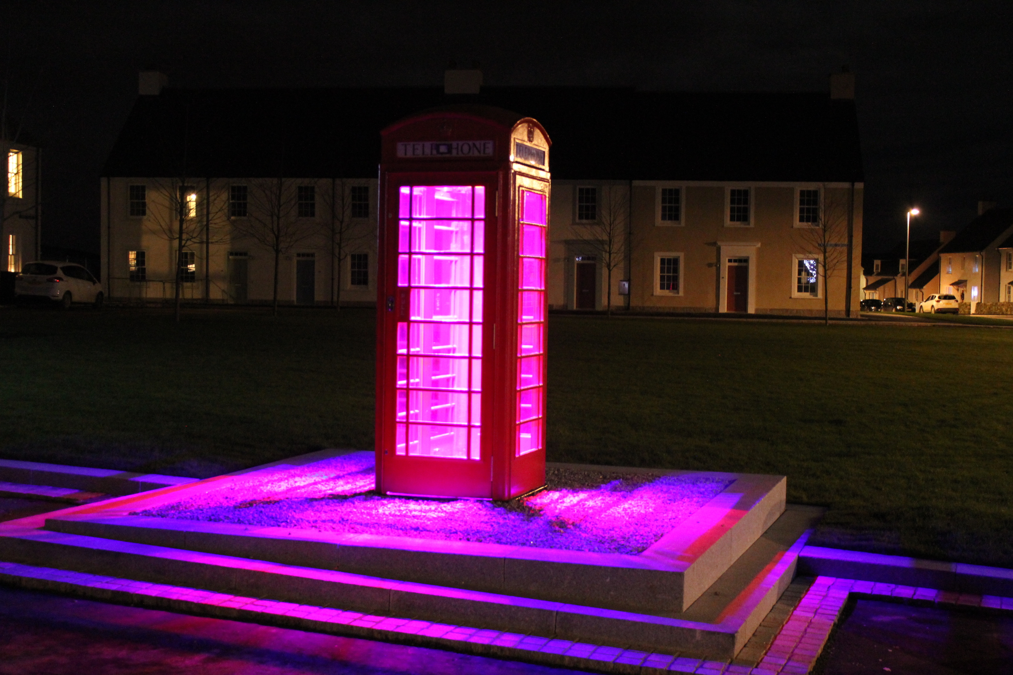 Postbox currently being featured on the plinth