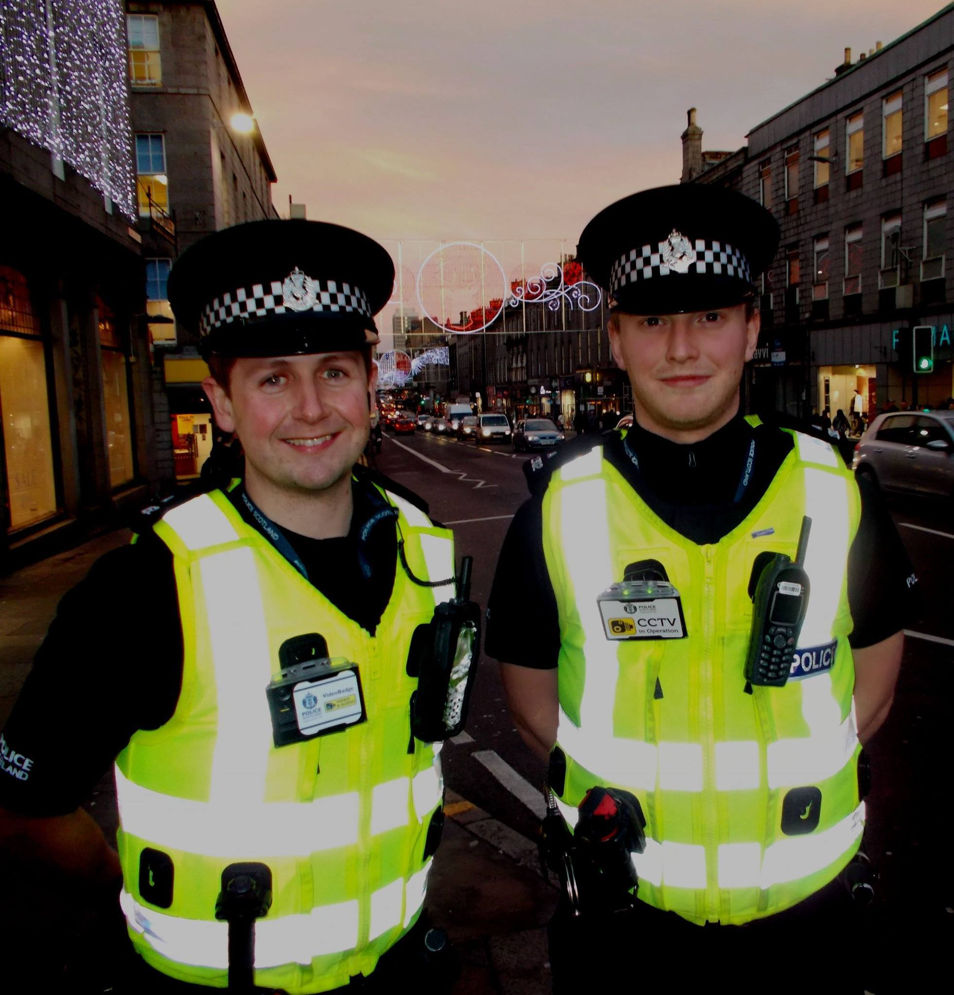PC McNally and PC Gibson of the Aberdeen City Centre Community Policing team