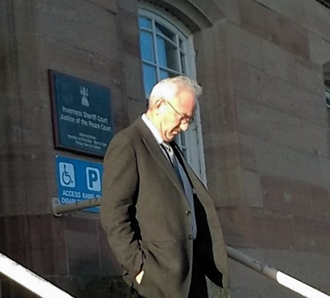 Social worker David Macrae leaves Inverness Sheriff Court