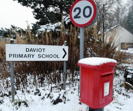 Daviot Primary was one of several in the Highlands closed by the weather