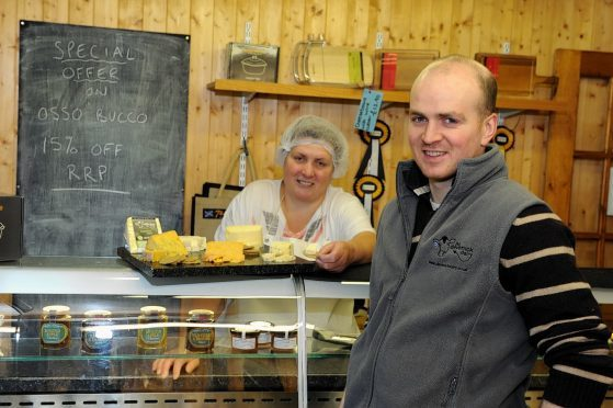 Kenny Groat and mother Nickie at The Devenick Dairy