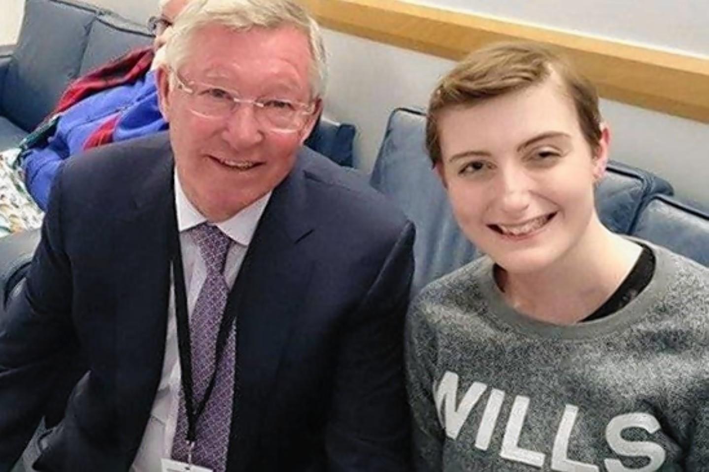 Emily Findlay with Sir Alex Ferguson