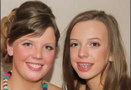 Emma Sim and sister Ellie