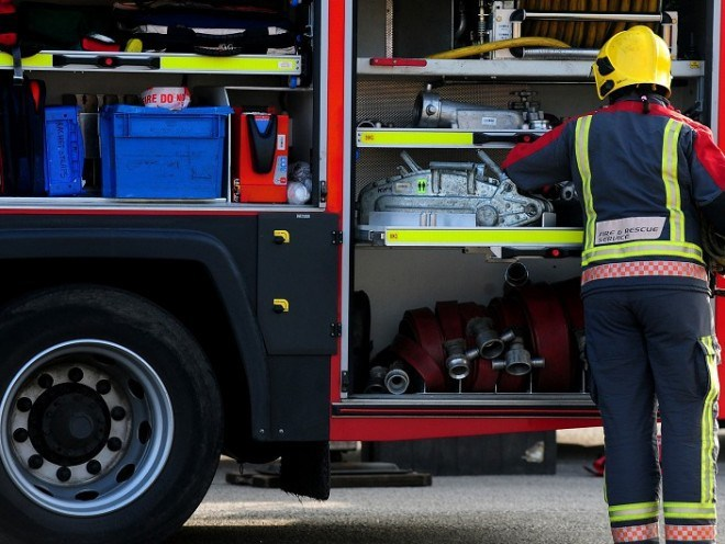 Fire crews were called to the crash