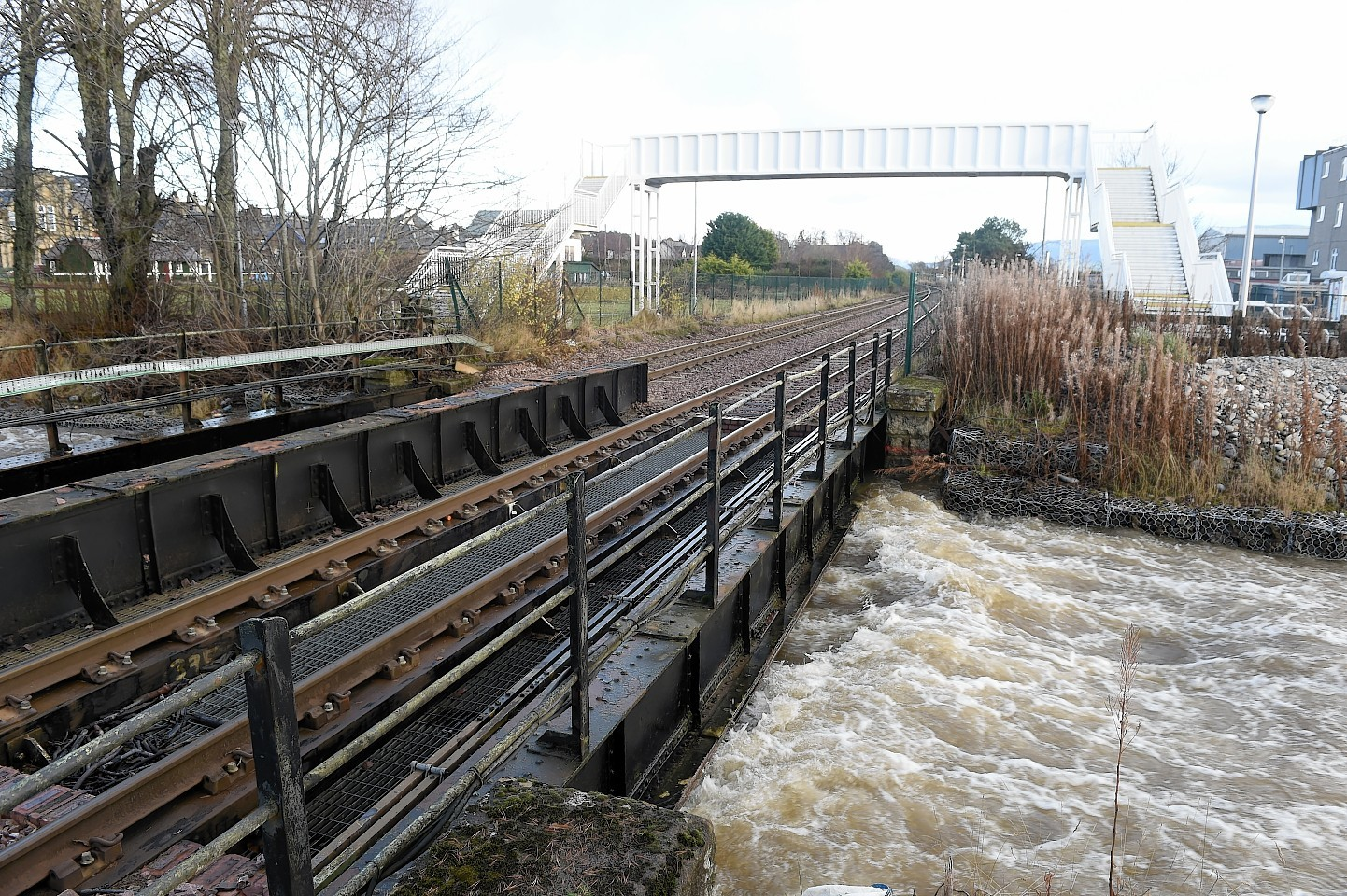 The River Gynack during a spate in Kingussie