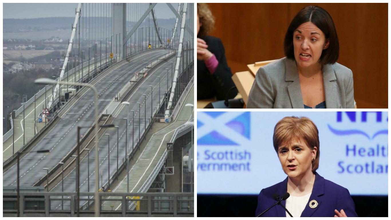 Kezia Dugdale and Nicola Sturgeon have clashed over  the Forth Bridge