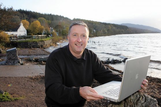 Gary Campbell on the banks of Loch Ness