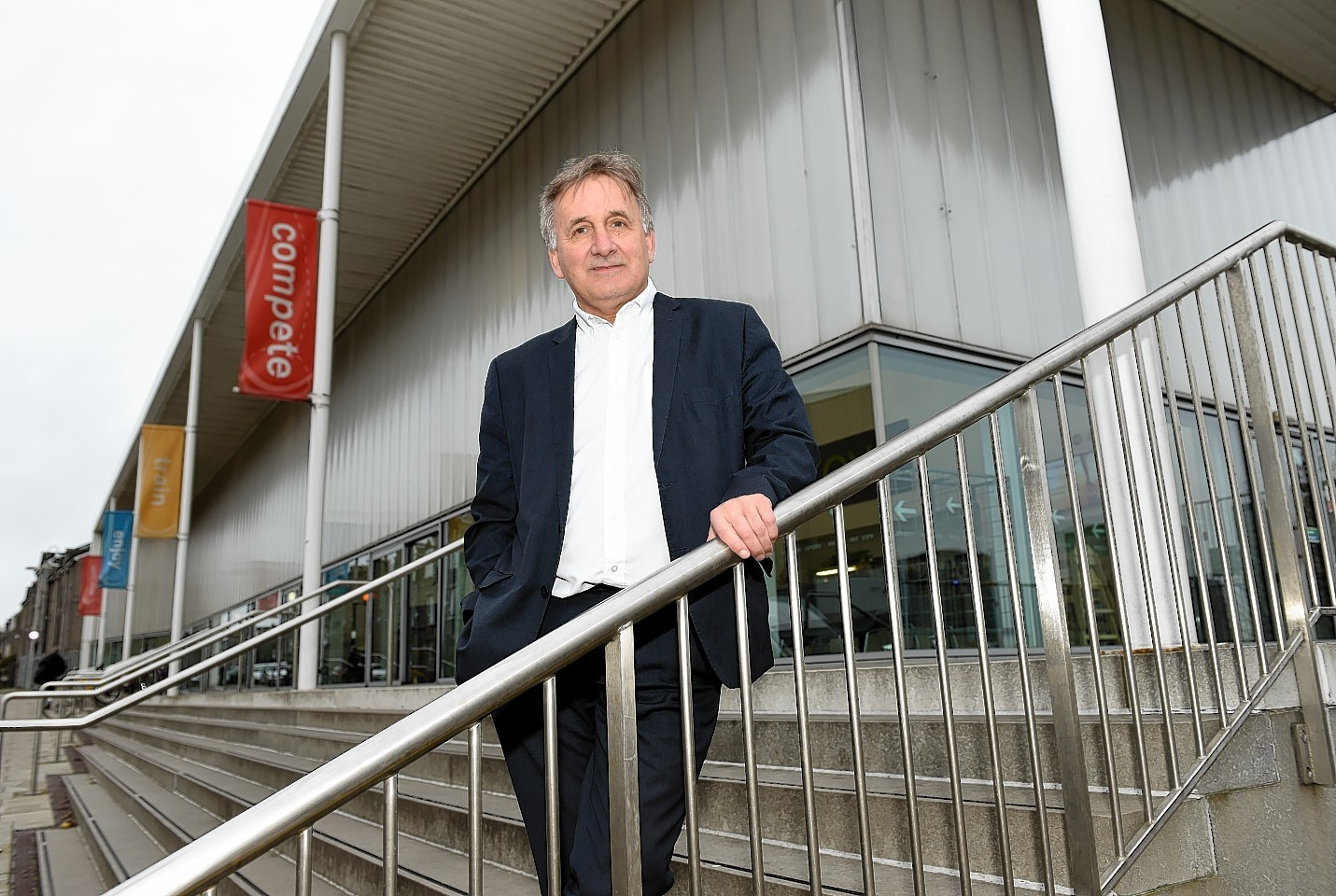 George Yule outside Aberdeen Sports Village following the news he is to step down. Picture by Kevin Emslie