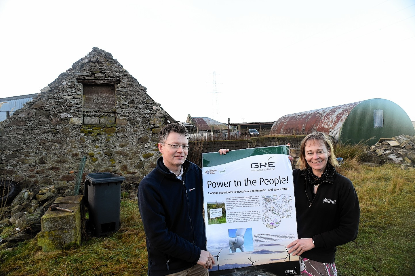 Development Manager Donald Boyd and Greenmyres Project Manager Jill Andrews at the site. Picture by Kami Thomson