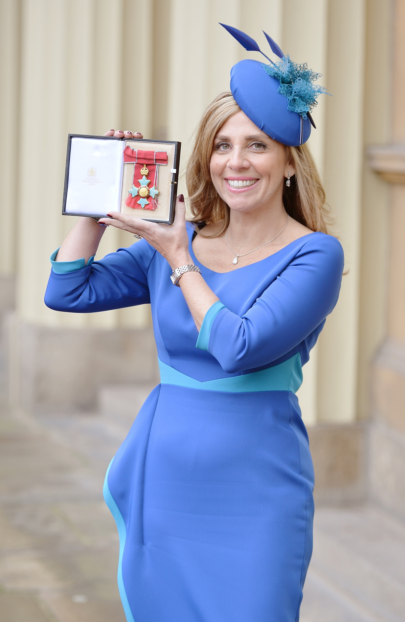 Lady Mendelsohn with her Commander of the Order of the British Empire (CBE) medal which was presented by the Prince of Wales at the Investiture ceremony in Buckingham Palace, London.