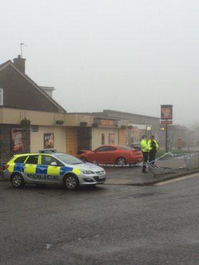 Scene of the crash at Gray's Inn, Aberdeen