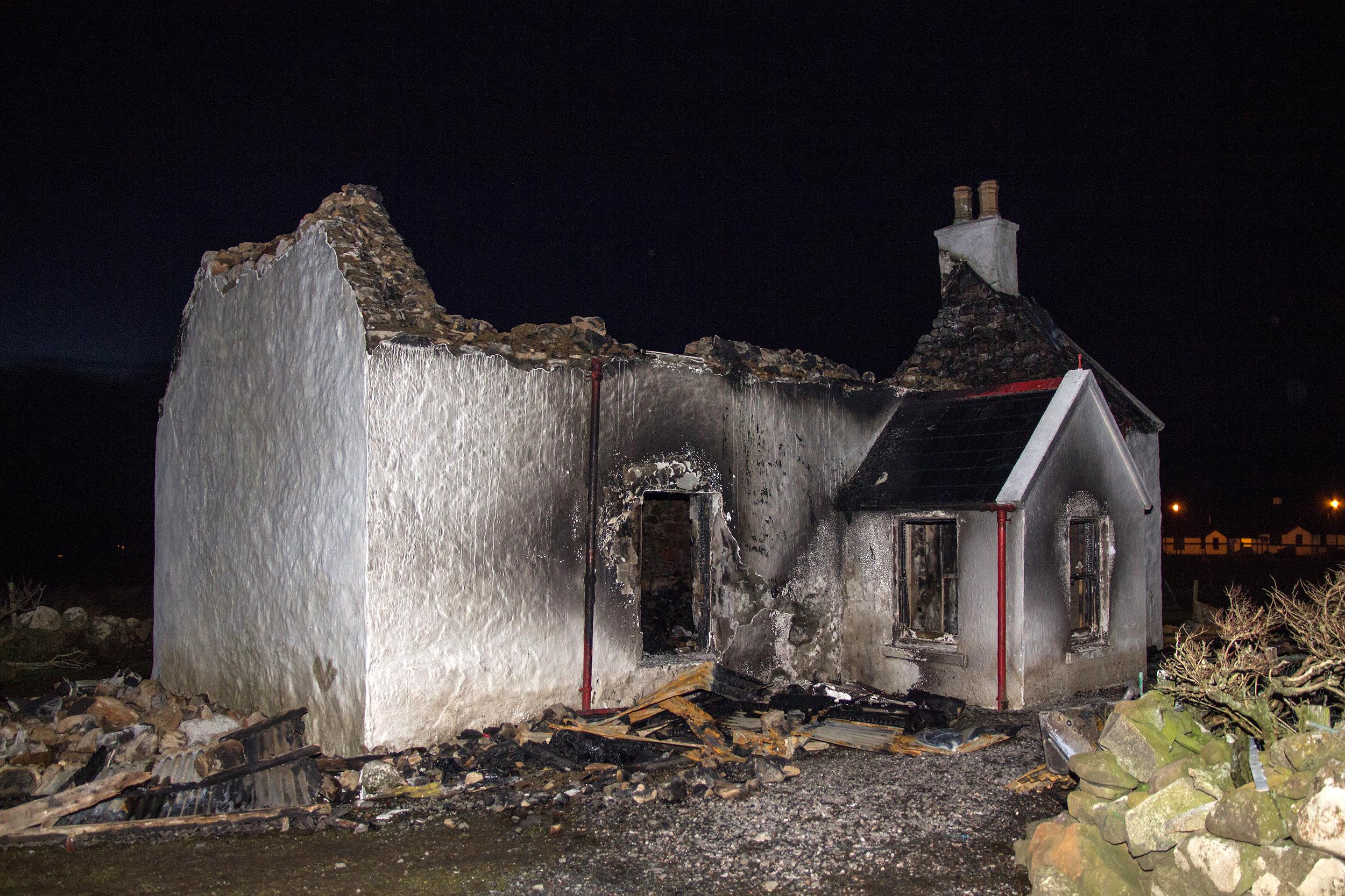 The ruined house on Isle of Skye