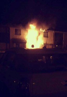The family home went up in flames