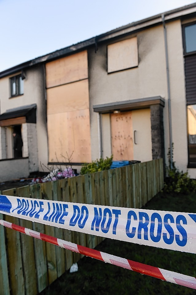 The fire damaged house in Inverbreakie Drive, Invergordon