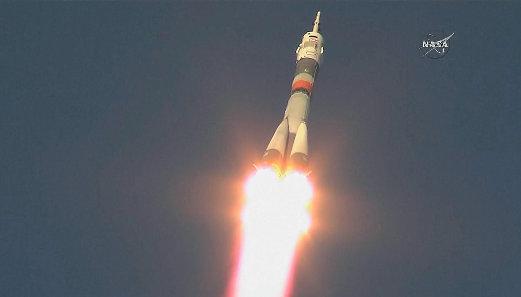 The rocket carrying Briton Tim Peake on his landmark flight to the International Space Station