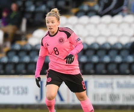 Kim Little in action for Scotland against Macedonia