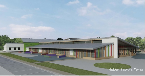 Artist impression of Markethill School replacement