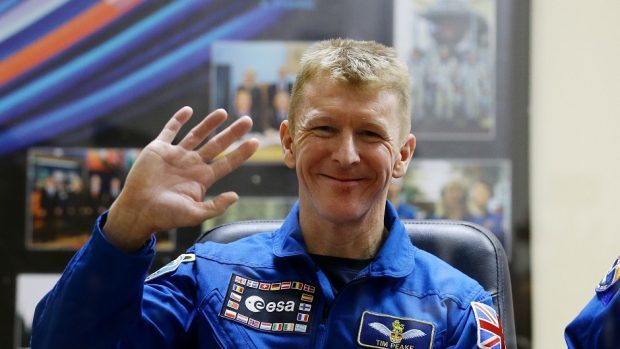 Tim Peake ahead of his launch to the International Space Station