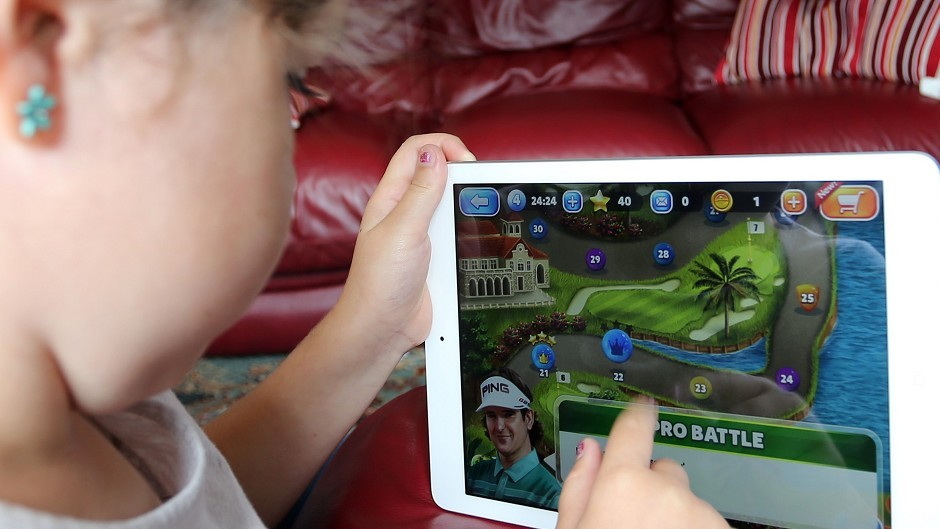 Swiping, unlocking or searching on smartphones and tablets were skills possessed by the majority of children studied