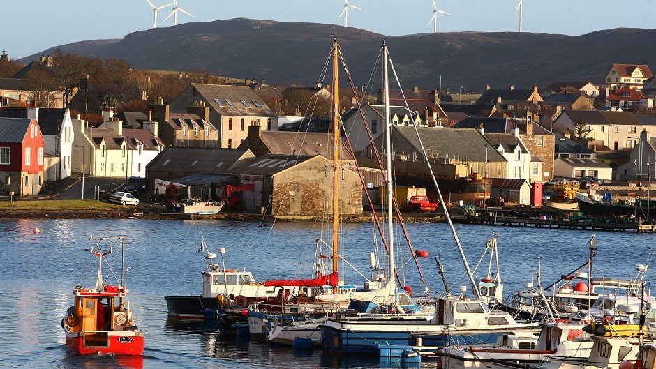 A worker has been evacuated and taken to Shetland