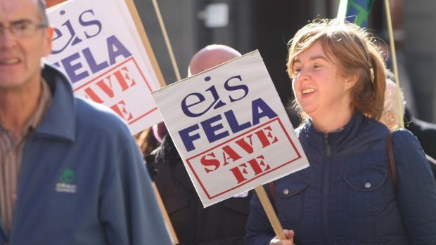 The EIS has been critical of the pay deal offered to college lecturers