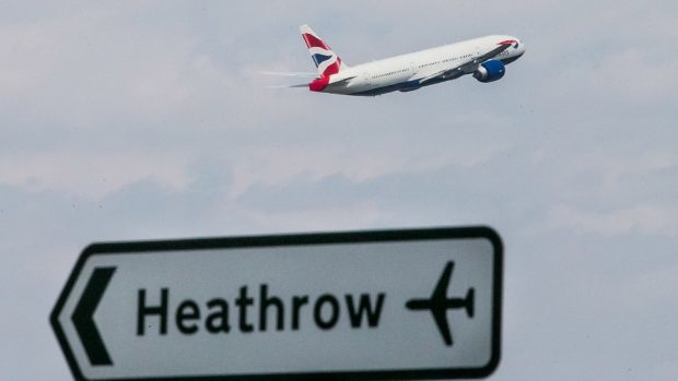 The incident took place at Heathrow