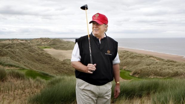 Trump says his passion for politics is unwavering like his passion for building world-class golf courses.