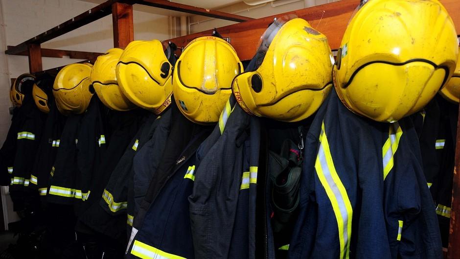 A fire crew is attending a grass fire in Lochaber