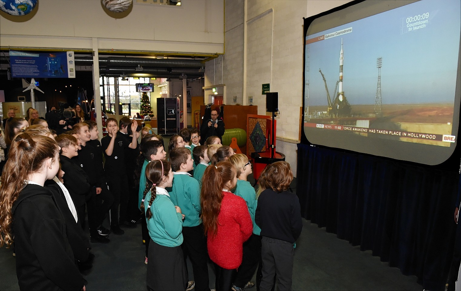 Children from Manor Park Primary and Dyce secondary were at Aberdeen Science Centre, Satrosphere