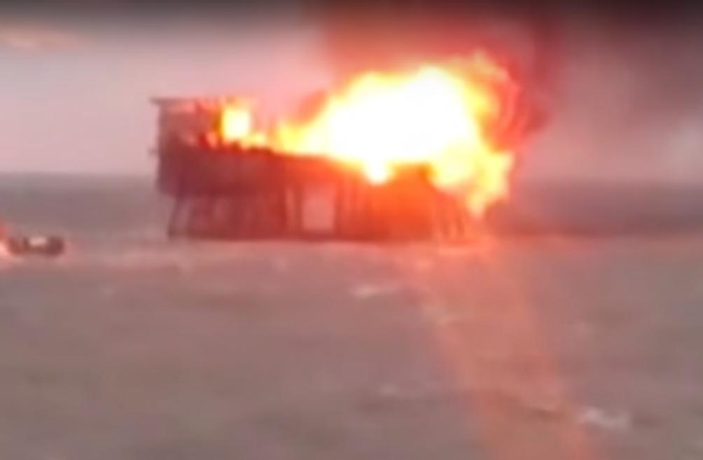 Azerbaijan rig fire