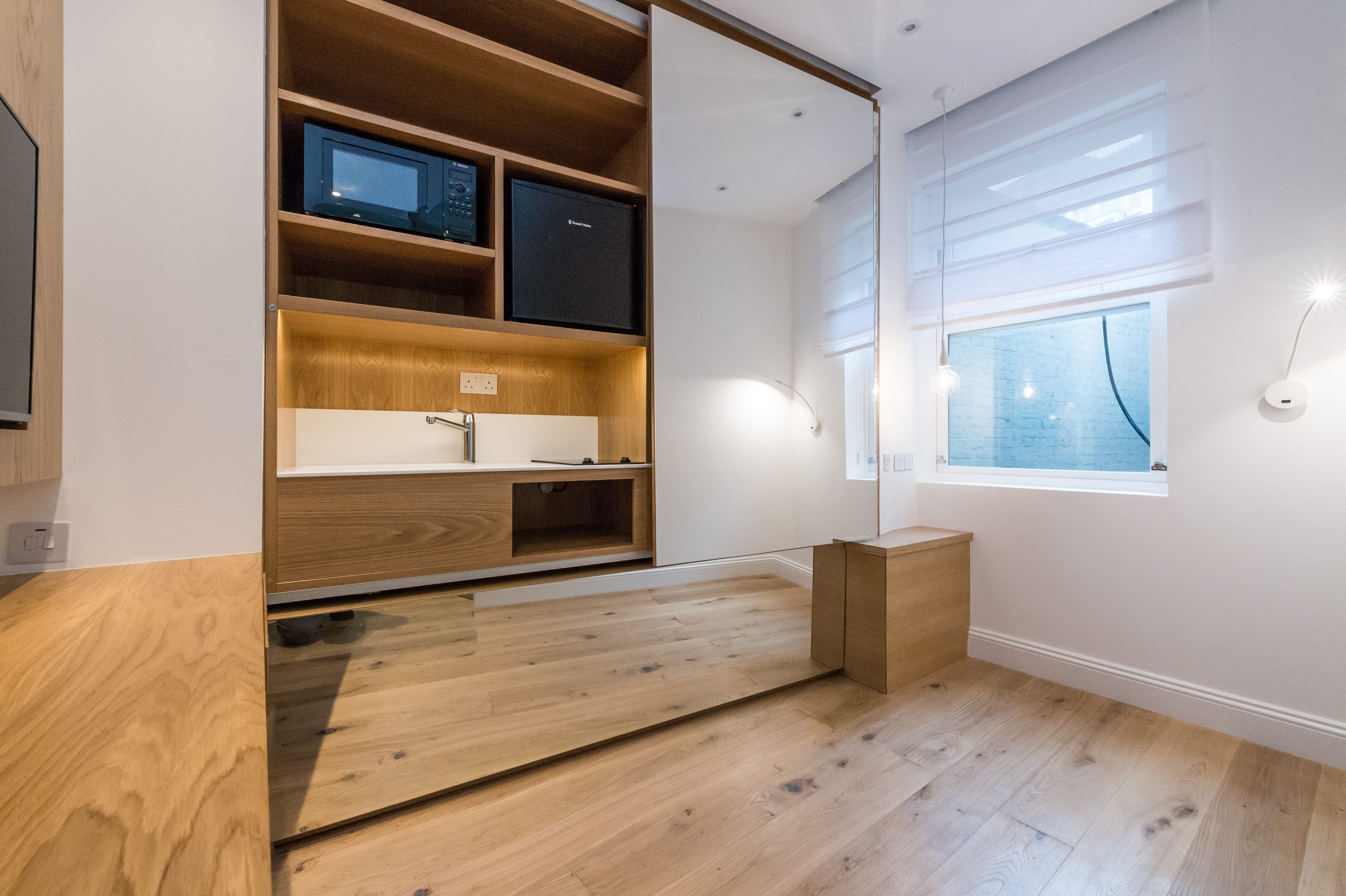 The tiny 72sq/ft flat in Princes Court, London that is on the market for £600,000.