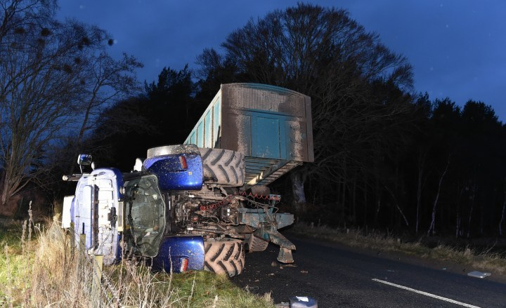 The crash crash on the A944 Dunecht to Alford Road. Picture by Colin Rennie