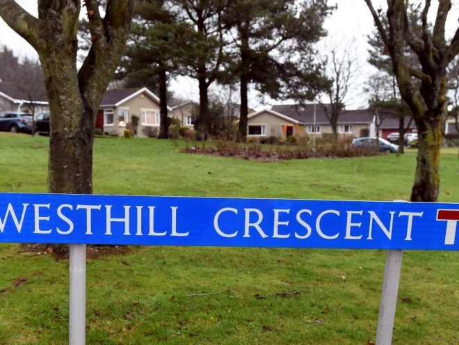 Westhill Crescent, where the youths were hospitalised