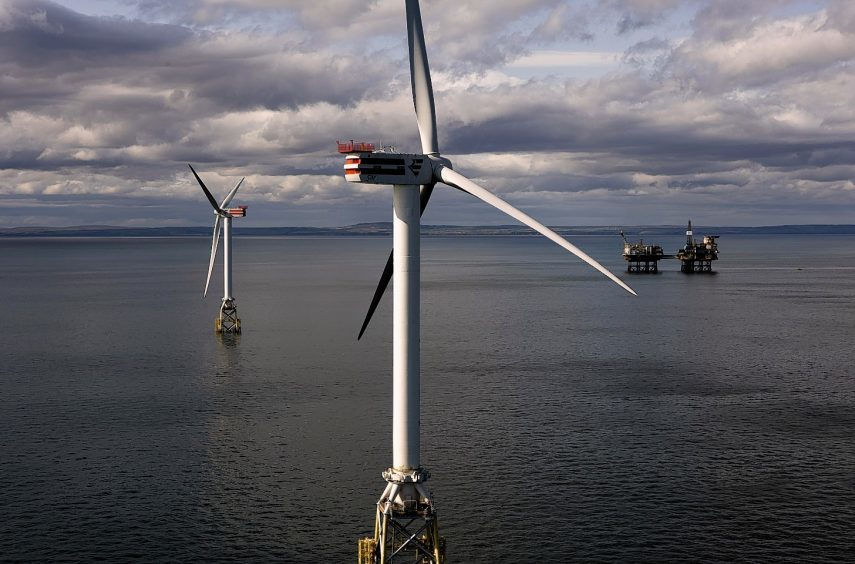 Plans have been lodged for the windfarm