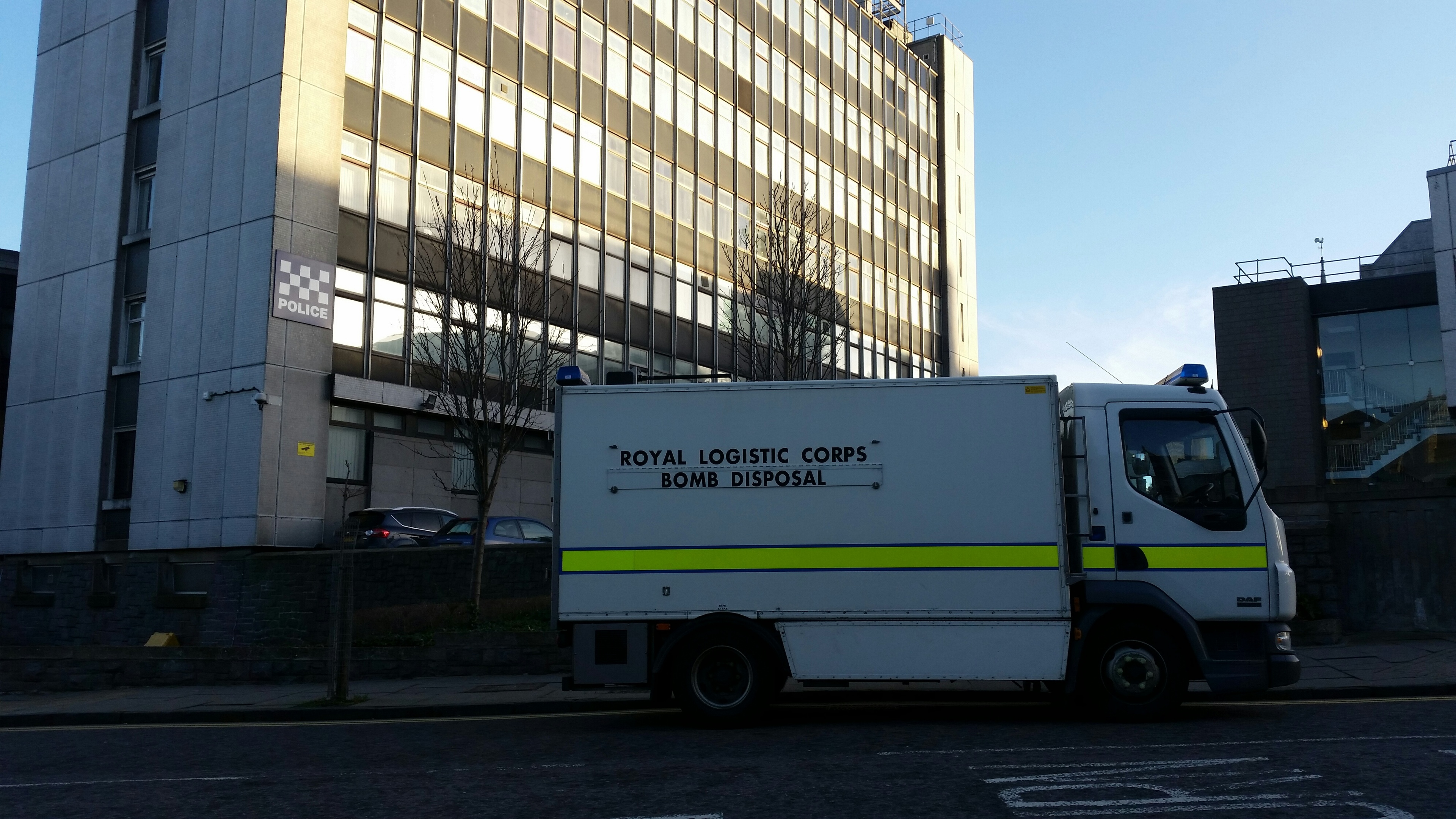 The bomb disposal squad at Queen Street HQ
